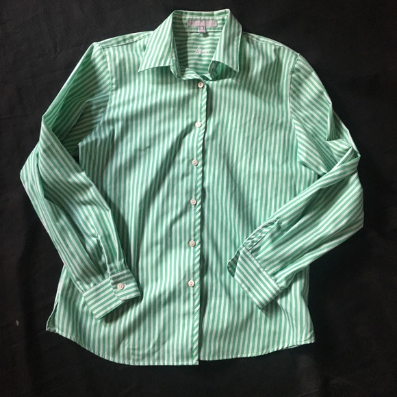 c43d2ff99 Foxcroft Tops | Wrinkle Free Shaped Fit Blouse 8 Striped | Poshmark
